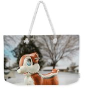 Winter Squirel Weekender Tote Bag