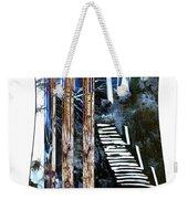 Winter Stairs In Blue Weekender Tote Bag
