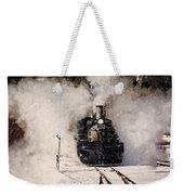Winter Steam At Rockwood Colorado Weekender Tote Bag