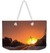 Winter Sun Glow Weekender Tote Bag