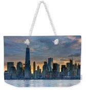 Winter Sunrise New York City Weekender Tote Bag