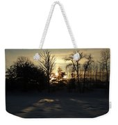 Winter Sunrise Shadows Weekender Tote Bag