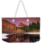 Winter Sunset Lights Up Half Dome Yosemite National Park Weekender Tote Bag
