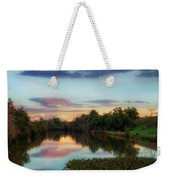 Winter Sunset On The Slough Weekender Tote Bag
