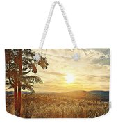 Winter Sunset Over The Mountains Weekender Tote Bag