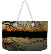 Winter Sunset Reflection Weekender Tote Bag