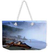 Winter Surf On Vancouver Island Weekender Tote Bag