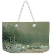 Winter The Laying Off Of Ice Weekender Tote Bag by Arseniy Ivanovich Meshchersky