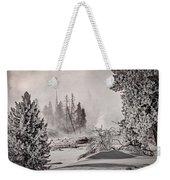 Winter Thermal Steam - Yellowstone Weekender Tote Bag
