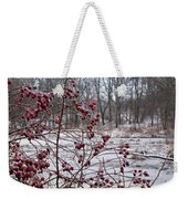 Winter Time Frozen Fruit Weekender Tote Bag