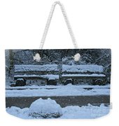 Winter Time Weekender Tote Bag