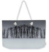 Winter Tree Symmetry Long Horizontal Weekender Tote Bag