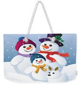 Winter Vacation With Mum Dad And Snowy Weekender Tote Bag