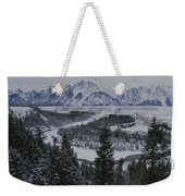 Winter View Of The Snake River, Grand Weekender Tote Bag