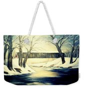 Winter Walk At Bennett's Mill Bridge Weekender Tote Bag