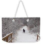 Winter Walk Weekender Tote Bag