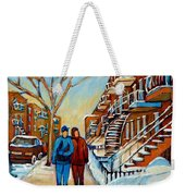 Winter Walk In Montreal Weekender Tote Bag