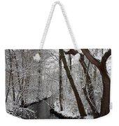 Winter Walk In The Woods Weekender Tote Bag