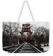 Winter Walk - Orange Weekender Tote Bag
