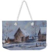 Winter Walk, Watercolor Painting Weekender Tote Bag