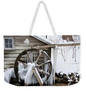 Winter Wheel Weekender Tote Bag