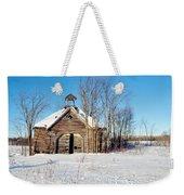 Winter Wisconsin Barn Weekender Tote Bag