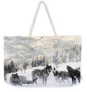 Winter Wolves Weekender Tote Bag