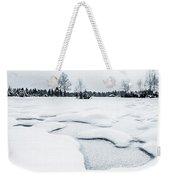 Winter Wonderland Bw Weekender Tote Bag