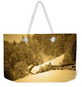 Winter Wonderland In Switzerland - Up The Hills Weekender Tote Bag