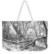 Winter Woods On A Stormy Day 2 Bw Weekender Tote Bag