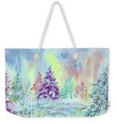 Winter Wonderland Aurora Borealis  Weekender Tote Bag