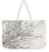 Winter's Berries In Black And White Weekender Tote Bag