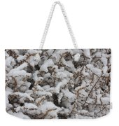 Winter's Contrast Weekender Tote Bag