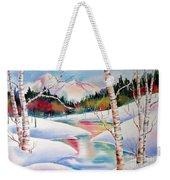 Winter's Light Weekender Tote Bag by Deborah Ronglien