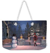 Winters Night Weekender Tote Bag