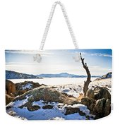 Winter's Silence - Pathfinder Reservoir - Wyoming Weekender Tote Bag