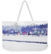 Wintertime At The Fairmount Dam And Boathouse Row Weekender Tote Bag