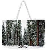 Wintry Forest Drive Weekender Tote Bag