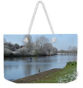 Wintry River At Stapenhill Weekender Tote Bag