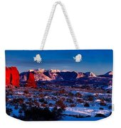 Wintry Sunset Glow  Weekender Tote Bag