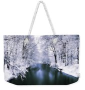 Wintry White Weekender Tote Bag