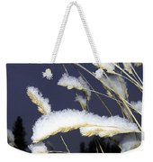 Wintry Wild Oats Weekender Tote Bag