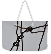 Wire And Snow Weekender Tote Bag