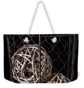 Wire Basket And Balls Still Life Weekender Tote Bag