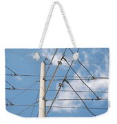 Wired Sky Weekender Tote Bag