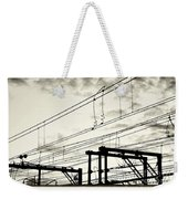 Wires And Coils Silhouette Weekender Tote Bag
