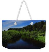 Wisconsin River In Vilas County Weekender Tote Bag