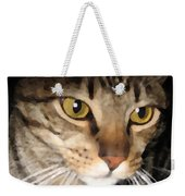 Wise Cat Weekender Tote Bag