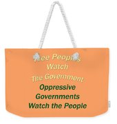Wise Sayings About Government 5004.02 Weekender Tote Bag