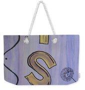 Wish Acrylic Watercolor Weekender Tote Bag